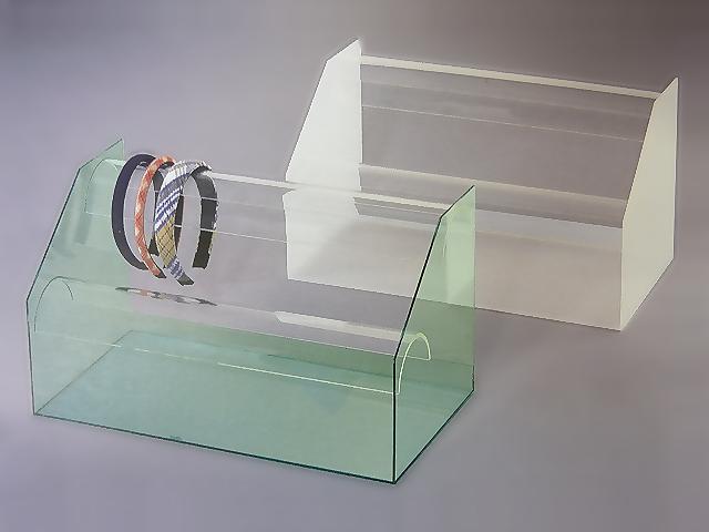 カチューシャ掛け ガラス色or乳白マット W450mm×D250mm×H250mm【アクリル ディスプレイ】【ディスプレイケース】【ディスプレイスタンド】