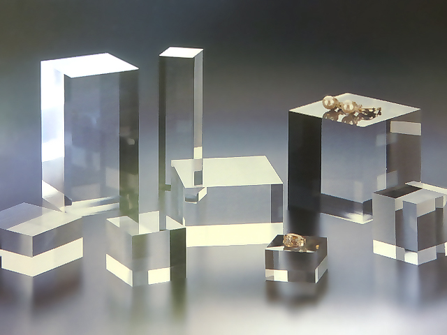 アクリル 四角柱 W100mm×D100mm×H50mmアクリル素材 アクリルステージ アクリル台 アクリル角柱 アクリル多角形