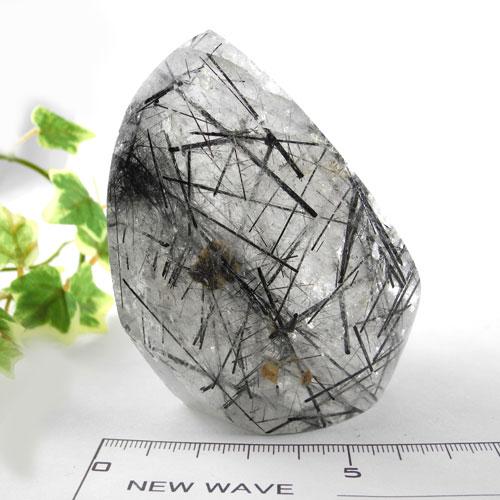 【送料無料】ブラックルチル(針トルマリン入り)水晶43HTR-43