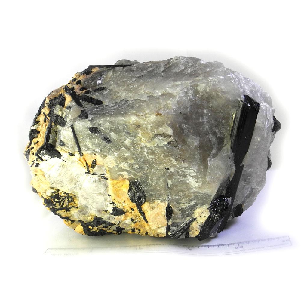 【送料無料】ブラックトルマリン柱状結晶入り水晶(10.55 kg/ブラックトルマリンインクォーツ)111【1点もの】【あす楽対応】TC-111