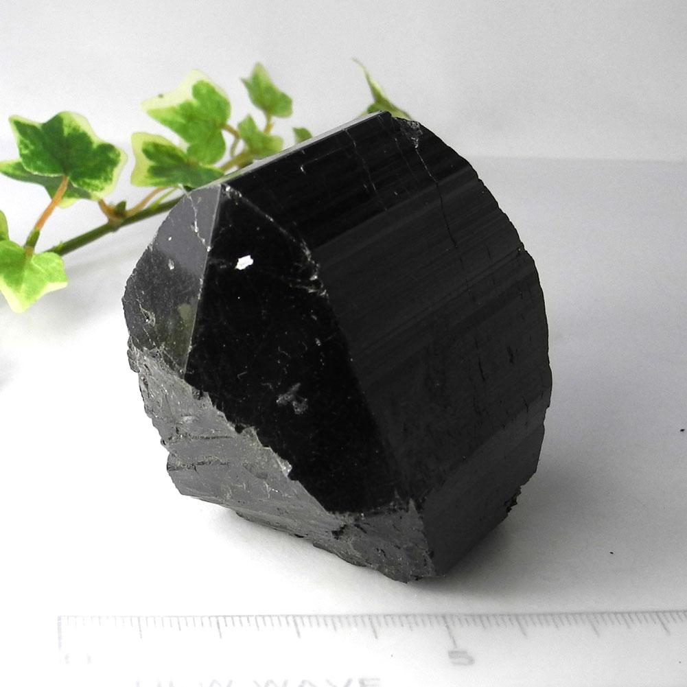 【送料無料】ブラックトルマリン結晶原石(303gダブルターミネーション両端・頭部結晶体)16【1点もの】BTW-16