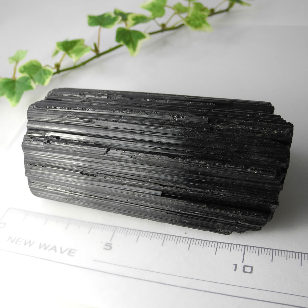 【送料無料】ブラックルマリン柱状結晶原石(432g)97【1点もの】TKG-97