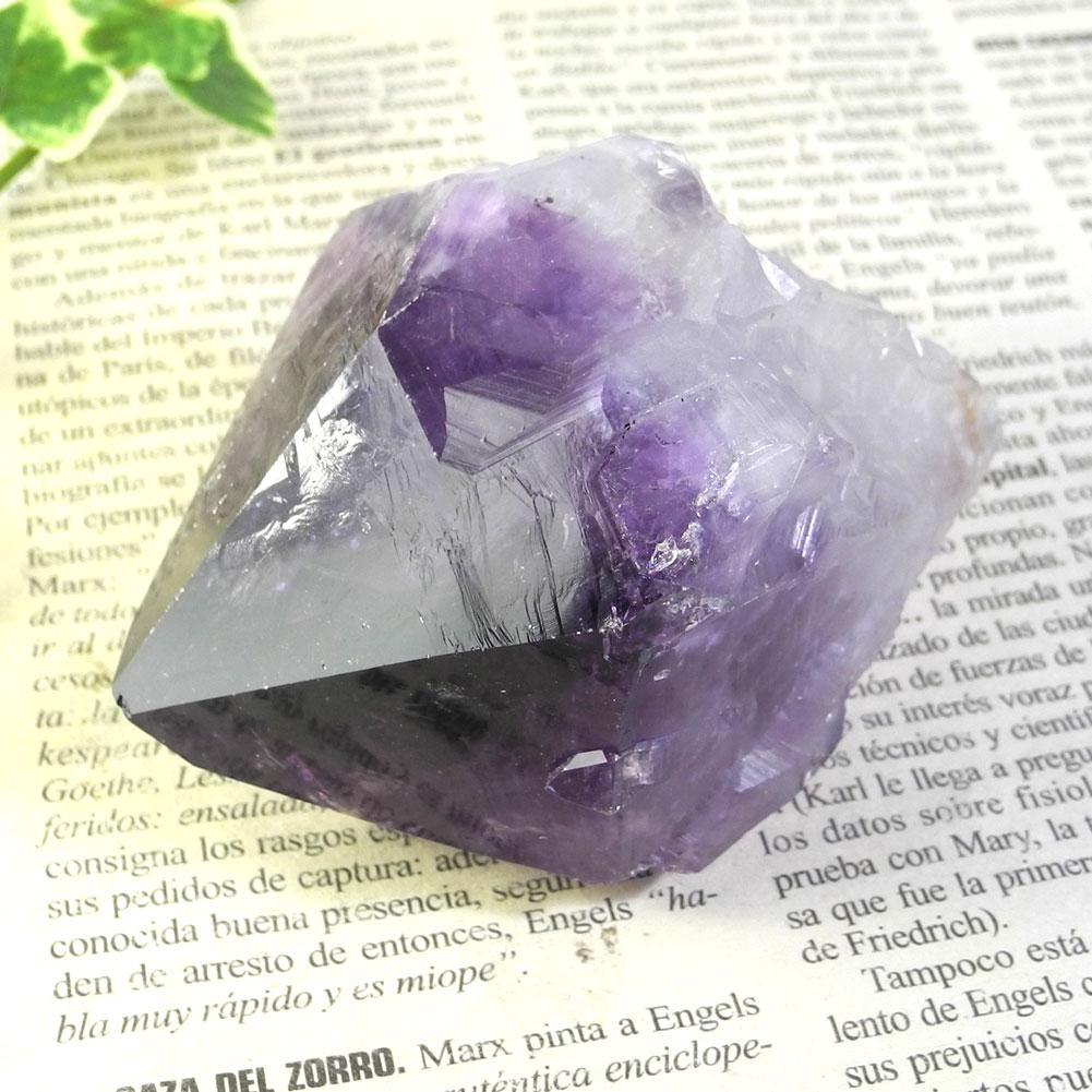 【送料無料】アメジスト ナチュラルポイント(Amethyst/紫水晶)21【1点もの/現品撮影】AMN-21
