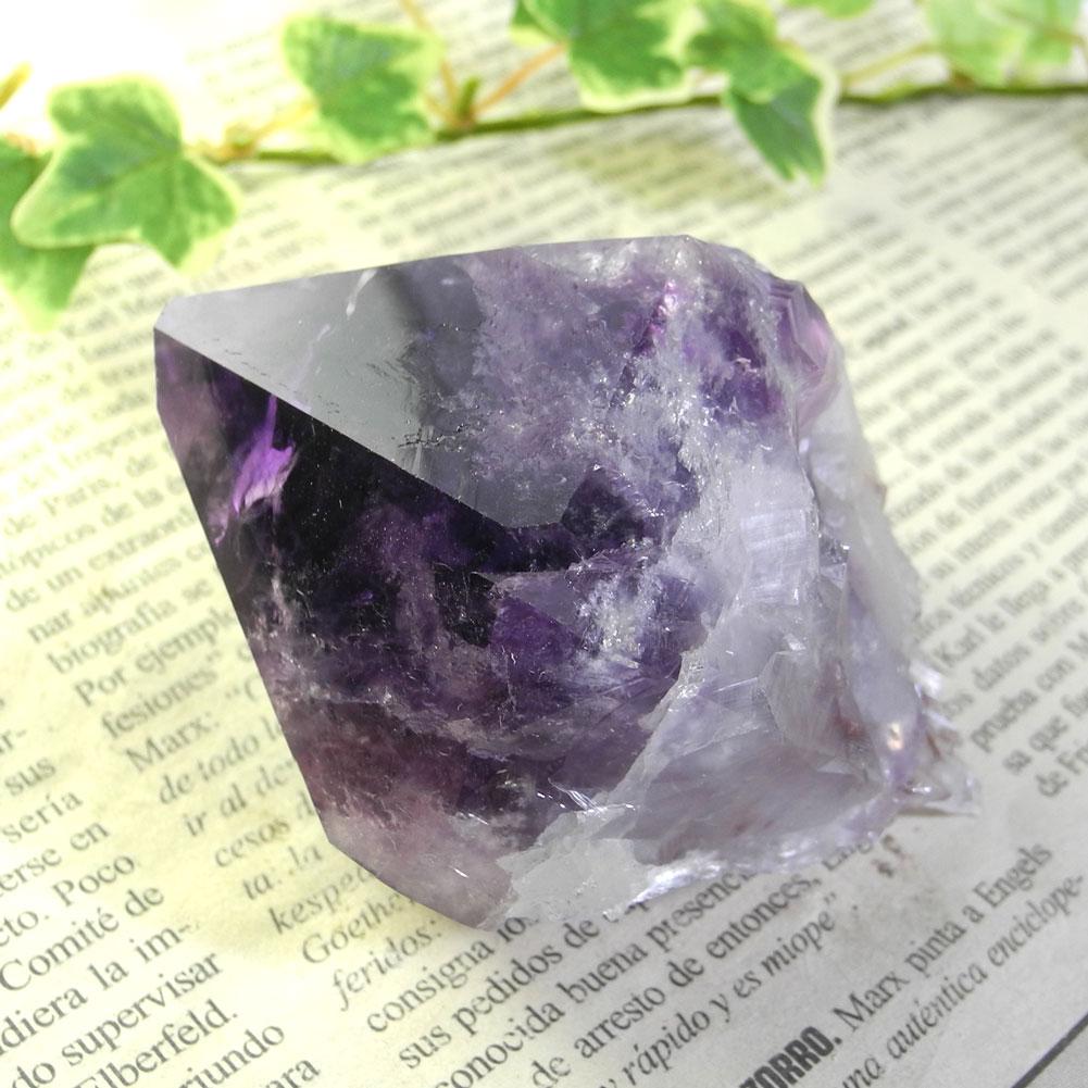 【送料無料】アメジスト ナチュラルポイント(Amethyst/紫水晶)22【1点もの/現品撮影】AMN-22