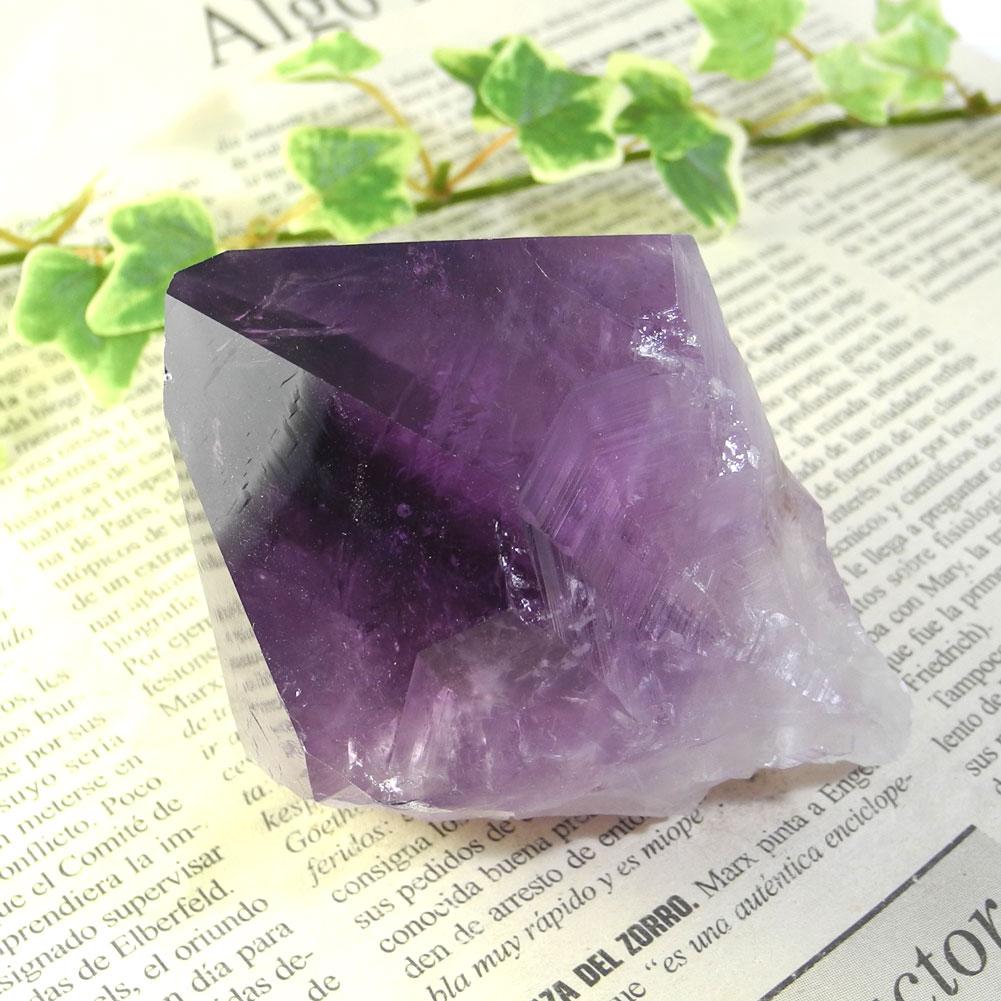 【送料無料】アメジスト ナチュラルポイント(Amethyst/紫水晶)23【1点もの/現品撮影】AMN-23