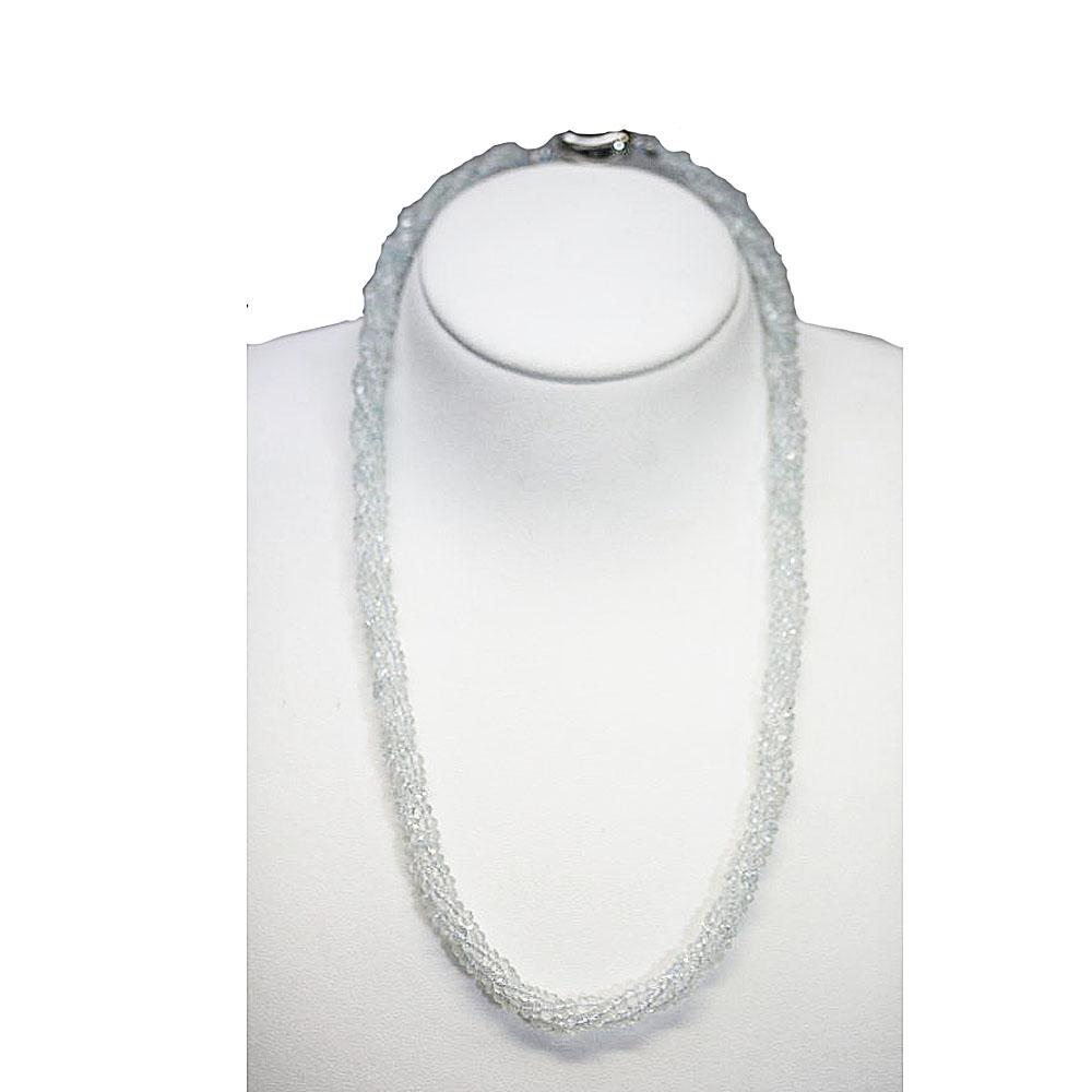 【よりどり10%OFF】マルチカラー アクアマリン ネックレス 金具 シルバーメッキ 3月 誕生石 MUAQN-5