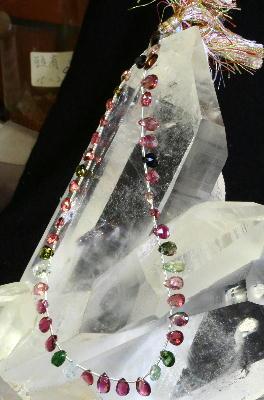 【よりどり10%OFF】マルチカラートルマリン ネックレス用 ビーズ 金具 シルバー 10月 誕生石 MTBN-1
