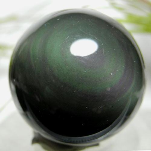 【送料無料】レインボーオブシディアン・スフィア(丸玉/ボール)32