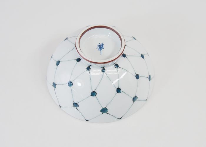 波佐見焼 網点紋 飯碗(大・緑) 250ml お茶碗 ご飯茶碗 和食器 磁器 めしわん ごはん はさみ焼 日本製 HASAMI おしゃれ