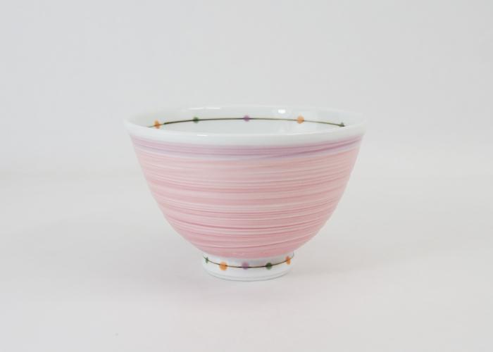 波佐見焼 カラードット 軽量飯碗(小・桃) 300ml お茶碗 ご飯茶碗 飯碗 和食器 磁器 はさみ焼 HASAMI おしゃれ
