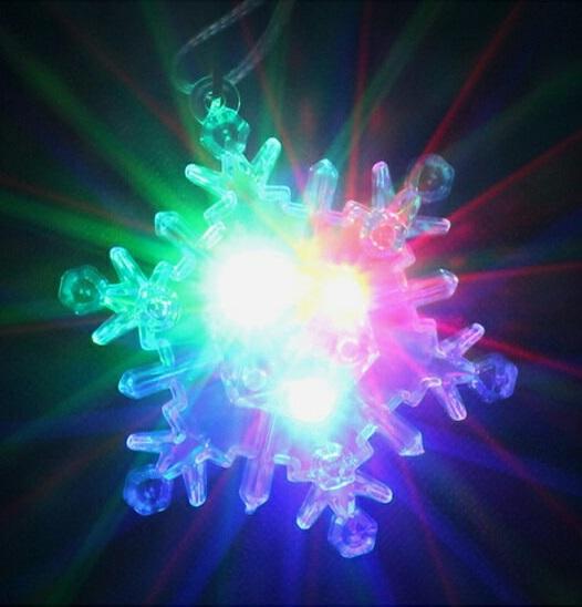 光るおもちゃ 『フラッシュクリスタルスノーペンダント』【単価42円(税込)×864個】