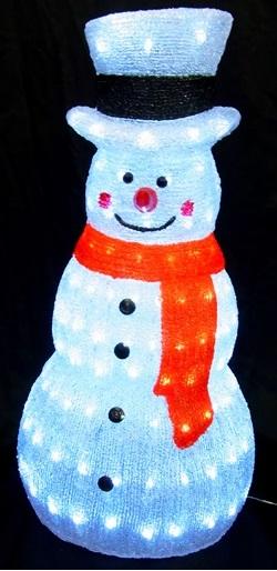 LEDイルミネーション/3Dスノーマンモチーフ/LED ホワイトスノーマン/イルミネーション/クリスマス/LED/コロナ産業/RCP/05P03Sep16/【HLS_DU】 (L3D602) クリスマス 電飾 スノーマン 雪だるま 『LED ホワイトスノーマン』【単価14600円(税込)×1個】