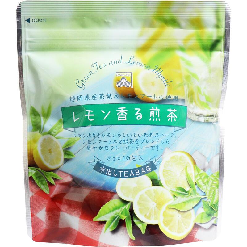 お買い得3セット 静岡県産茶葉レモンマートル使用 NEW ※レモン香る煎茶 内祝い 3g×10包入 水出しティーバッグ