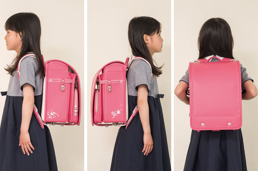 刺绣熏衣草巧克力供入学使用的小学生用的双肩背的书包女孩合身リトルチュチュチェリッシュ(新货轮到11030)2015年原始物粉红色