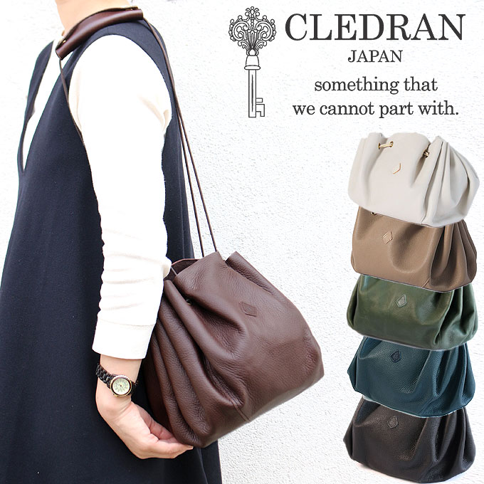 CLEDRAN クレドラン PERIO ぺリオ ハーフ ショルダーバッグ 巾着型バッグ 2606 2way 日本製 レディース 正規品 ギフト プレゼント 母の日