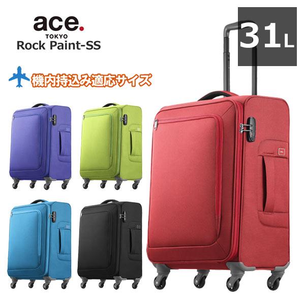 【最大23倍!Rカード&エントリー7/25限定】エース スーツケース ロックペイントSS ace.TOKYO LABEL 1泊~3泊 ソフトキャリーバッグ 機内持ち込み可能サイズ46cm 31L 35701 最軽量 正規品 プレゼント