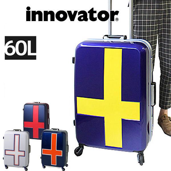 【会員別エントリーで最大P13倍!11/19 9:59まで】【正規品2年保証】イノベーター スーツケース INV58t innovator TSAロック 4泊~7泊 66cm 60L フレームタイプ カードキー 2年保証 トリオ 正規品