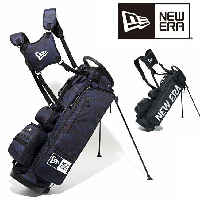 ニューエラ ゴルフ キャディバッグ NEW ERA GOLF キャディーバッグ スタンド スタンド式 ショルダー 9型 48インチ 送料無料 11404363 11901502 タイガーカモフラージュ 迷彩 ネイビー 正規品 軽量 メンズ