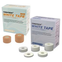 トワテック ホワイトテープ(ベージュ) 5.0cm×13.7m 6巻 令和NEWテープ × 10セット
