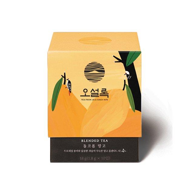 甘いマンゴーの風味と深くて豊富な済州茶が調和をなす味! 【O'SULLOC】【送料無料】ドルコロムマンゴー1.8g x*10個入