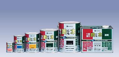 1回塗りハウスペイント 鉄にも木にも速乾・油性つやあり こげちゃ色 7L カンペハピオ