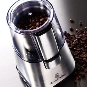高い素材 SPUでポイントアップ 短時間操作で満足な仕上がり 粉をこぼさずフィルターへ AL完売しました 送料無料 7660JP コーヒーグラインダー 電動コーヒーミル Russell ラッセルホブス Hobbs