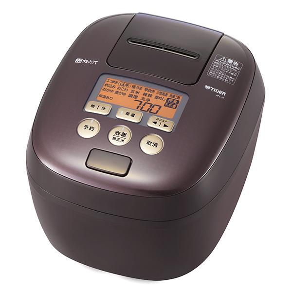 タイガー 圧力IH 炊飯器 5.5合 炊きたて 炊飯ジャー かまど熱封土鍋コーディング 少量高速炊飯 冷凍ご飯 麦めし もち麦TIGER ディープブラウン JPC-H100-TP