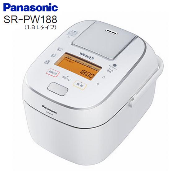 SR-PW188(W) パナソニック Wおどり炊き 可変圧力IHジャー炊飯器 1升 1.8L Panasonic 10合圧力IH SR-PW188-W