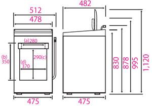 海尔 (Haier) 风干燥与全自动洗衣机 (不锈钢罐通过,节水型) 4.2 公斤新生活 (生活) JW-K42F-W