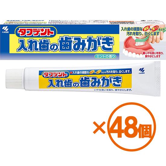 【48個まとめ買い】タフデント 入れ歯の歯みがき 95g ×48個