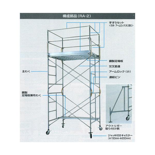最安値で  RA-4H 4段セット 鋼管製移動式足場ローリングタワーRA ピカコーポレイション:ホームセンタートックリ店-DIY・工具