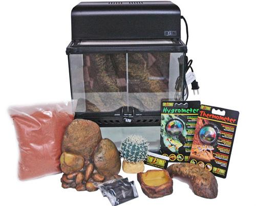ハビタットキット・デザート 爬虫類飼育11点セット(砂漠環境用) PT2650 GEX(ジェックス)