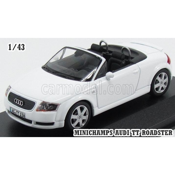 Audi TT RS 2-door coupe 2009 White Scale 1:43 Diecast Sports car model