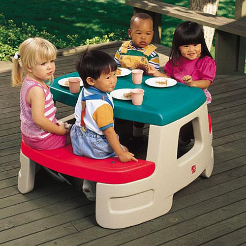 【メーカー直送】【代引き不可】【同梱不可】【包装不可】 ちびっこピクニックテーブル