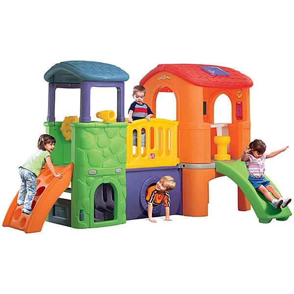 [メーカー直送品] ジョイフルクラブハウス [代引き不可 同梱不可 包装不可] | 大型遊具 ハウス すべり台