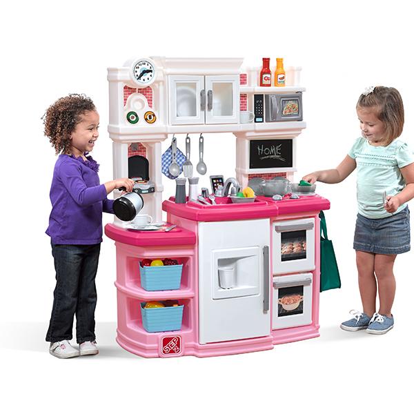 [次回入荷2月下旬][メーカー直送品] グルメキッチン ソフトピンク [代引き・同梱・包装不可] | おもちゃ キッチン 大型 ままごと