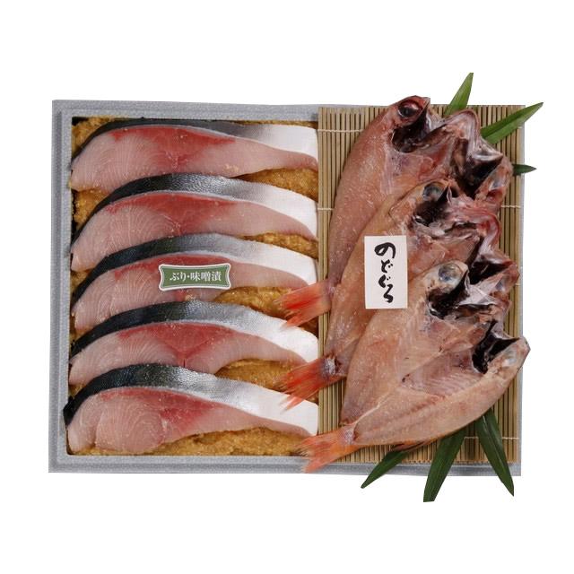 <味の十字屋>のどぐろ一夜干し・ぶり味噌漬詰合せ[冷凍]【お歳暮 贈り物 北陸 富山 石川県 お土産 魚介 のどぐろ 鰤 御挨拶 ギフト 贈答】