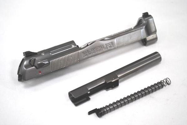 WE-TECH マルイ M92 サムライエッジ 対応 メタルスライド &メタルアウターバレルセット サムライエッジ刻印 シルバー