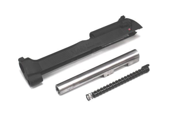 WE-TECH マルイ M92 サムライエッジ 対応 メタルスライド &メタルアウターバレルセット サムライエッジ刻印 ブラック