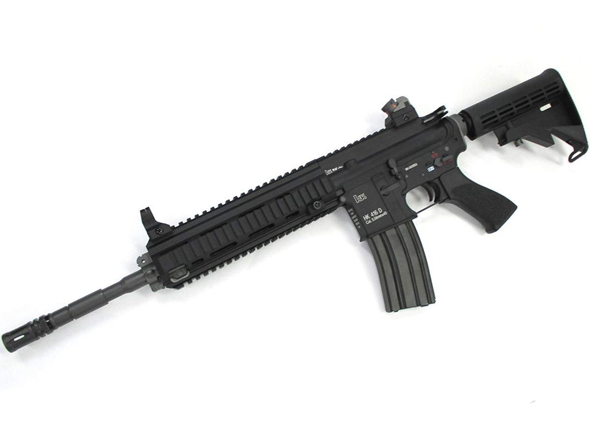 WE HK416D ガスブローバック ガスガン 正式刻印モデル BK