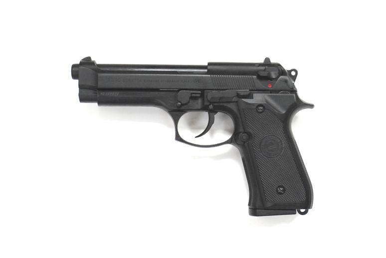 DOUBLE BELL M92FS リアル刻印スライド ブローバックガスガン ブラック No.726