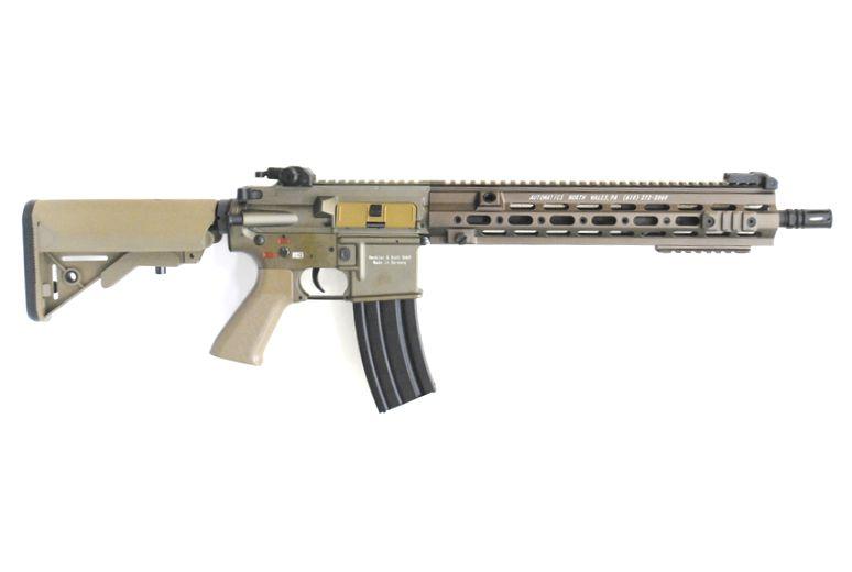 DOUBLE BELL HK416 ロング GEISSELEタイプ 14.5inch SMRハンドガード メタル電動ガン ダークアース TAN M4 M16 No.812S