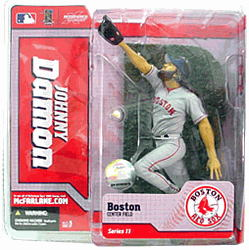 【まもなく入荷 1504】マクファーレントイズ MLB フィギュアシリーズ11/ジョニー・デーモン variant灰色/ボストン・レッドソックス