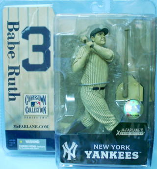 【送料無料】マクファーレントイズ MLB クーパーズタウン シリーズ2/ベーブ・ルース variant セピアカラー/ニューヨーク・ヤンキース