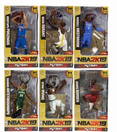 【まもなく入荷 1902】【送料無料】NBA 7インチ フィギュア 2K 19 シリーズ1 SET OF 6/マクファーレントイズ