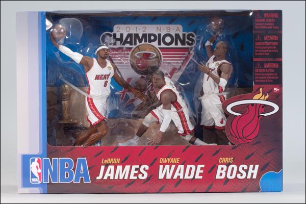 【まもなく再入荷 1708】NBA 3PK マイアミ・ヒート/2011-2012年チャンピオン/マクファーレントイズ/レブロン,ウェイド,ボッシュ