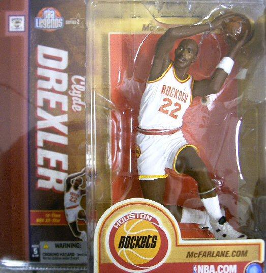 【まもなく再入荷 3】マクファーレントイズ NBAフィギュア レジェンドシリーズ2/クライド・ドレクスラーchase/ヒューストン・ロケッツ