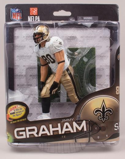麥克法蘭玩具 NFL 系列 34 和吉米 · 格雷厄姆 1000年限量版 / 新奧爾良聖徒