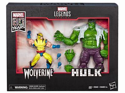 【新商品 まもなく入荷】【送料無料】ハズブロ マーベルコミック 80周年 マーベルレジェンド ハルク vs ウルヴァリン 2パック/marvel legends Hulk Vs.Wolverine