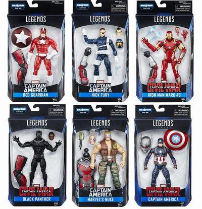 【まもなく再入荷 1803】Marvel Legends Civil War Captain America Wave 02 SET OF 6/マーベルレジェンド/シビル・ウォー/キャプテン・アメリカ